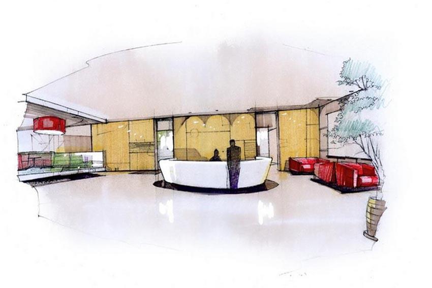 手绘效果图在空间设计中的重要作用-设计动态-办公室